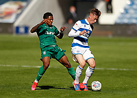 11th July 2020; The Kiyan Prince Foundation Stadium, London, England; English Championship Football, Queen Park Rangers versus Sheffield Wednesday; Jacob Murphy of Sheffield Wednesday challenges Jack Clarke of Queens Park Rangers