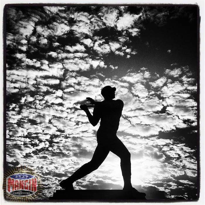 SAN FRANCISCO - FEBRUARY 7: Instagram of the Willie McCovey statue outside AT&T Park on February 7, 2015 in San Francisco, California. Photo by Brad Mangin