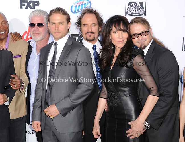 Ron Perlman,Charlie Hunnam,Kim Coates,Katey Sagal and Kurt Sutter at FX screening of Sons of Anarchy Season 6 held at Dolby Theatre in Hollywood, California on September 07,2013                                                                   Copyright 2013 Hollywood Press Agency