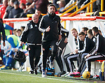 Aberdeen v St Johnstone...03.10.15   SPFL   Pittodrie, Aberdeen<br /> Derek McInnes <br /> Picture by Graeme Hart.<br /> Copyright Perthshire Picture Agency<br /> Tel: 01738 623350  Mobile: 07990 594431
