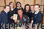 BOOK SIGNING: Students from at St. Joseph's Secondary School in Abbeyfeale chatting with Bill Cullen at the school  on Friday last..L/r. Noelle O'Connor, Meave Ward, Ciara Lyons, Meline Cross, Aisling Lane and Aisling Mannion.   Copyright Kerry's Eye 2008