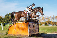 AUS-Christopher Burton rides Quality Purdey during the Cross Country for the CCI5*-L. Interim-3rd. Les 5 Etoiles de Pau. Pyrenees Atlantiques. France. Saturday 26 October. Copyright Photo: Libby Law Photography
