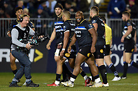 Beno Obano of Bath Rugby looks on after scoring a try. European Rugby Champions Cup match, between Bath Rugby and RC Toulon on December 16, 2017 at the Recreation Ground in Bath, England. Photo by: Patrick Khachfe / Onside Images