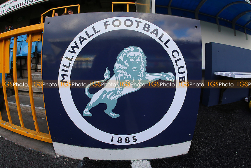 General view of the Millwall Lion logo during Millwall Lionesses vs Sheffield FC Ladies, FA Women's Super League FA WSL2 Football at The Den on 9th October 2016