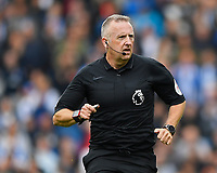Referee Jonathan Moss  during Brighton & Hove Albion vs Tottenham Hotspur, Premier League Football at the American Express Community Stadium on 5th October 2019