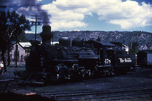 3/4 engineer's-side view of D&amp;RGW #478 on a Durango turntable lead.<br /> D&amp;RGW  Durango, CO