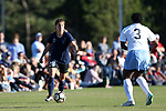 CARY, NC - APRIL 08: Courage's Samantha Witteman (26) and North Carolina's Ru Mucherera (3). The NWSL's North Carolina Courage played a preseason game against the University of North Carolina Tar Heels on April 8, 2017, at WakeMed Soccer Park Field 3 in Cary, NC. The Courage won the match 1-0.
