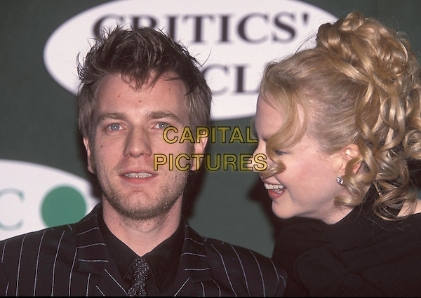 EWAN McGREGOR & NICOLE KIDMAN.13 February 2002.portrait headshot laughing.ref:11455.www.capitalpictures.com.sales@capitalpictures.com.©Capital Pictures