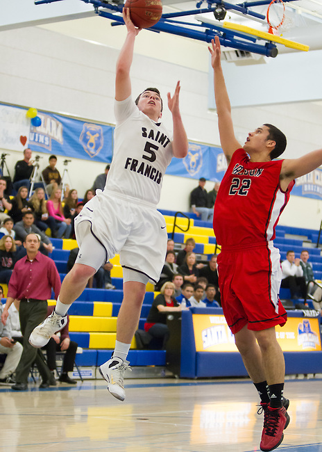 Aragon HS vs. St. Francis HS, at Santa Clara HS, CCS Division 2 Quarterfinals, Feb, 23, 2013. ....