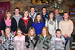 Talented athletes who were honoured at the Farranfore/Maine Valley AC awards night in the Anvil Bar, Boolteens on Friday night was l-r: Sinead Hoctor Firies, Jessica Mangan Killorglin, Mary T Moynihan Farranfore, Maria Flynn Keel, John Foley Ballyfinnane. Back row: Karen Flynn Keel, Denis Hayes Farranfore, Louise Flynn Keel, Stephen Hoctor Firies, Niamh de Hora Ballyferriter, Ian Crowley Farranfore, Maura, Arthur Fitzgerald Farranfore and Shane Hand Lispole   Copyright Kerry's Eye 2008