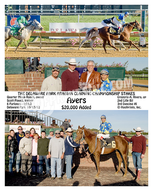 Ayers winning The Arabian Claiming Crown at Delaware Park on 10/13/12