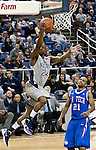 March 3, 2012:   Nevada Wolf Packs Deonte Burton shoots a layup against the Louisiana Tech Bulldogs during their NCAA basketball game played at Lawlor Events Center on Saturday night in Reno, Nevada.