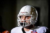 Jan 7, 2010; Pasadena, CA, USA; Texas Longhorns quarterback (12) Colt McCoy during the 2010 BCS national championship game against the Alabama Crimson Tide at the Rose Bowl. Alabama defeated Texas 37-21. Mandatory Credit: Mark J. Rebilas-.