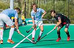 ROTTERDAM-  finale ABN AMRO CUP 2019. Bloemendaal-Amsterdam (1-3) . Oliver Polkamp met Nicky Leijs (Adam)   COPYRIGHT KOEN SUYK.
