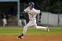 Asheville Tourists shortstop Trevor Story #3 runs to second during game one of the South Atlantic League, Southern Division playoffs between the Greensboro Grasshoppers and the Asheville Tourists at McCormick Field on September 10, 2012 in Asheville, North Carolina . The Grasshoppers defeated the Tourists 6-3. (Tony Farlow/Four Seam Images).