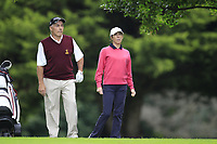 Jan and Kay Gilbert (Malone) during the final  of the Ulster Mixed Foursomes at Killymoon Golf Club, Belfast, Northern Ireland. 26/08/2017<br /> Picture: Fran Caffrey / Golffile<br /> <br /> All photo usage must carry mandatory copyright credit (&copy; Golffile | Fran Caffrey)