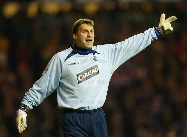 Stefan Klos, Rangers.Stock season 2003-2004.pic willie vass