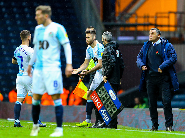 Blackburn Rovers' Ben Brereton comes on for Adam Armstrong<br /> <br /> Photographer Alex Dodd/CameraSport<br /> <br /> The EFL Sky Bet Championship - Blackburn Rovers v Queens Park Rangers - Saturday 3rd November 2018 - Ewood Park - Blackburn<br /> <br /> World Copyright © 2018 CameraSport. All rights reserved. 43 Linden Ave. Countesthorpe. Leicester. England. LE8 5PG - Tel: +44 (0) 116 277 4147 - admin@camerasport.com - www.camerasport.com