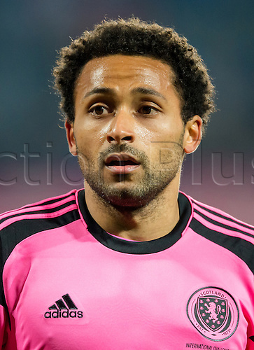 24.03.2016. Prague, Czech Republic.  Scotland's Ikechi Anya during the international friendly match between the Czech Republic and Scotland at Letna Stadium in Prague, Czech Republic, 24 March 2016.