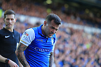 Ross Wallace of Sheffield Wednesday after a knock during the Sky Bet Championship match between Sheffield Wednesday and Nottingham Forest at Hillsborough, Sheffield, England on 9 September 2017. Photo by Leila Coker / PRiME Media Images.