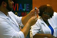 Campanha de vacinaçao contra a Febre Amarela em estaçoes de Metro, Sao Paulo. 2018. Foto de Euler Paixao