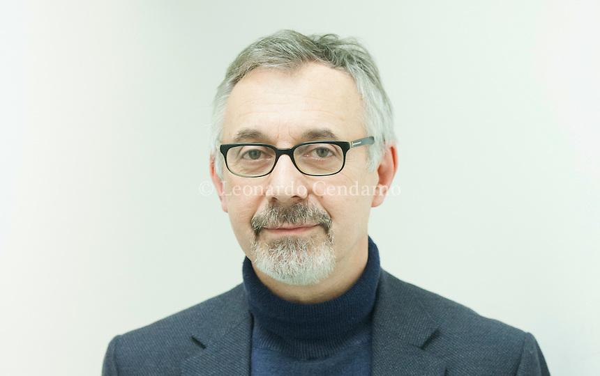 Paolo Di Stefano, scrittore, poeta, critico letterario e giornalista italiano. Milano, 7 febbraio 2015. © Leonardo Cendamo