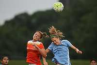 Piscataway, NJ - Saturday July 09, 2016: Cami Privett, Sarah Killion during a regular season National Women's Soccer League (NWSL) match between Sky Blue FC and the Houston Dash at Yurcak Field.