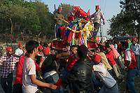 Local festival at Pashupati Templs and cremation area Kathmandu, Nepal