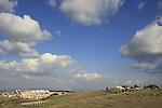 Israel, Menashe' Heights.  A view of Yokneam and Ein Ha'emek from road 672