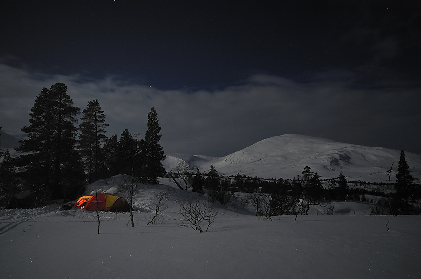 Moonlight night, Trollheimen,Norway