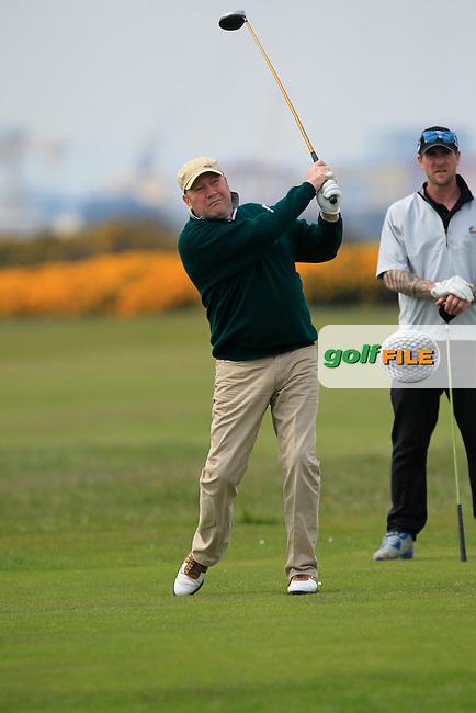 playing with Stuart Grehan (Tullamore) on the 3rd tee during the Flogas Irish Amateur Open Championship Am-Am at Royal Dublin on Monday 9th May 2016.<br /> Picture:  Thos Caffrey / www.golffile.ie
