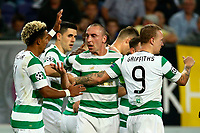 ANDERLECHT, BELGIUM - SEPTEMBER 27 : Leigh Griffiths forward of Celtic FC and Scott Brown midfielder of Celtic FC celebrates  during the Champions League Group B  match between RSC Anderlecht and Celtic FC on September 27, 2017 in Anderlecht, Belgium, 27/09/2017 <br /> Foto Photonews/Panoramic