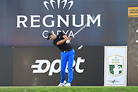 Julian Suri (USA) tees off the 18th tee during Friday's Round 2 of the 2018 Turkish Airlines Open hosted by Regnum Carya Golf &amp; Spa Resort, Antalya, Turkey. 2nd November 2018.<br /> Picture: Eoin Clarke | Golffile<br /> <br /> <br /> All photos usage must carry mandatory copyright credit (&copy; Golffile | Eoin Clarke)