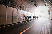 peloton in yet another tunnel<br /> <br /> 109th Milano-Sanremo 2018<br /> Milano &gt; Sanremo (291km)