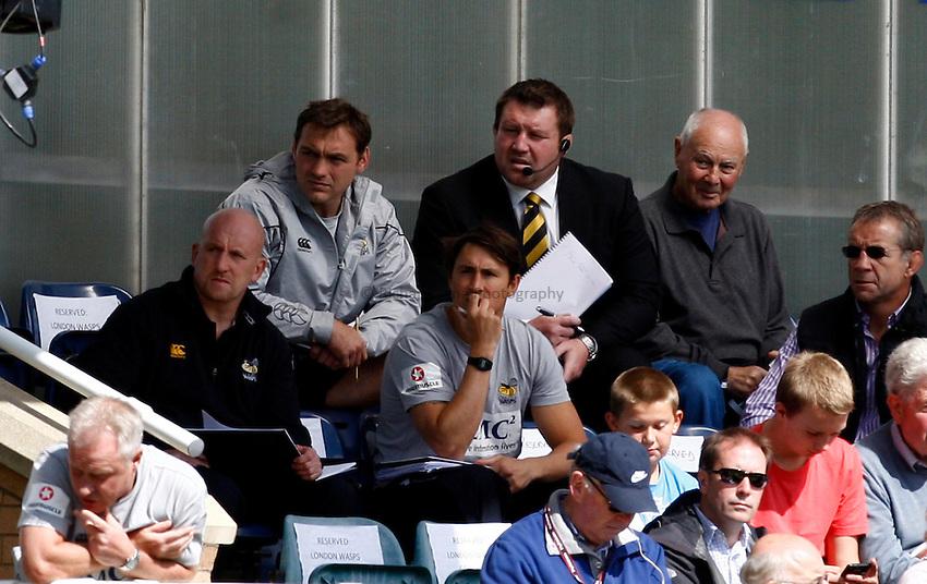 Photo:Richard Lane/ Richard Lane Photography. London Wasps v Treviso Rugby. Pre Season Friendly. 27/08/2011. Wasps management watch the game.