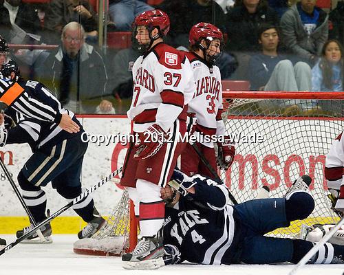 Rob O'Gara (Yale - 4) - The Yale University Bulldogs defeated the Harvard University Crimson 5-1 on Saturday, November 3, 2012, at Bright Hockey Center in Boston, Massachusetts.