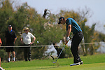 Nicolas Colsaerts (BEL) in action on the 15th hole during Day 1 Thursday of the Open de Andalucia de Golf at Parador Golf Club Malaga 24th March 2011. (Photo Eoin Clarke/Golffile 2011)