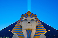 The blue eyed sphinx of the Luxor gambling casino in Las Vegas, Nevada.