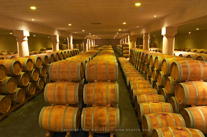 The winery, barrel aging cellar - Chateau Baron Pichon Longueville, Pauillac, Medoc, Bordeaux, Grand Cru