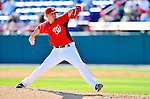 7 March 2011: Washington Nationals' pitcher Drew Storen in action during a Spring Training game against the Houston Astros at Space Coast Stadium in Viera, Florida. The Nationals defeated the Astros 14-9 in Grapefruit League action. Mandatory Credit: Ed Wolfstein Photo