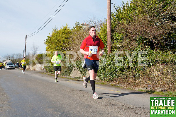 1429 John McGillycuddy  who took part in the Kerry's Eye, Tralee International Marathon on Saturday March 16th 2013.