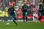 30th September, bet365 Stadium, Stoke-on-Trent, England; EPL Premier League football, Stoke City versus Southampton; Southampton's Nathan Redmond chases a loose ball