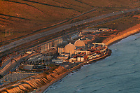 aerial photograph of the San Onofre Nuclear Generating Station, Pacific Coast, California