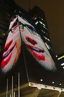 SAO PAULO, SP, 03 DEZEMBRO 2012 - GALERIA ARTE VISUAL - Imagens foram projetadas na fachada do prédio da Federação das Indústrias do Estado de São Paulo (Fiesp), na capital paulista, na segunda-feira (03), como parte da SP Urban Digital. (FOTO; LEVY RIBEIRO / BRAZIL PHOTO PRESS).