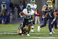 Annapolis, MD - October 26, 2019: Tulane Green Wave running back Cameron Carroll (20) runs the ball during the game between Tulane and Navy at  Navy-Marine Corps Memorial Stadium in Annapolis, MD.   (Photo by Elliott Brown/Media Images International)