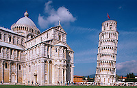 Italien, Toskana, Pisa, Dom und schiefer Turm, Unesco-Weltkulturerbe