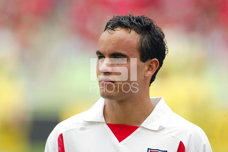 Landon Donovan prior to the game. The USA tied South Korea, 1-1, during the FIFA World Cup 2002 in Daegu, Korea.