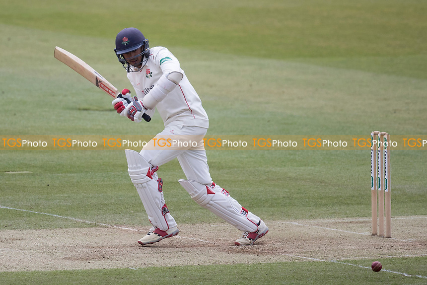 Haseeb Hameed of Lancashire CCC plays square of the wicket for a single during Middlesex CCC vs Lancashire CCC, Specsavers County Championship Division 2 Cricket at Lord's Cricket Ground on 12th April 2019