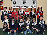 Players from The Ardee Celtic Under 10A with their medals at the Ardee Celtic annual awards night in Ardee parish centre. Photo:Colin Bell/pressphotos.ie