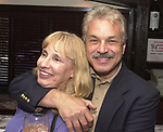 Karen Wiles-Stabile and Joe Dombroski, seen attending the retirement party for John Cornell on October 10, 2000. Photo by Jim Peppler. Copyright/Jim Peppler-2000